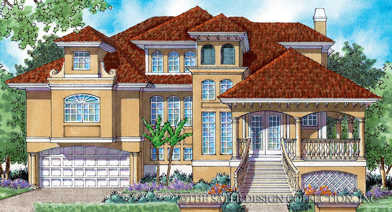 Home plan chateau sur mer sater design collection for Chateau style house plans
