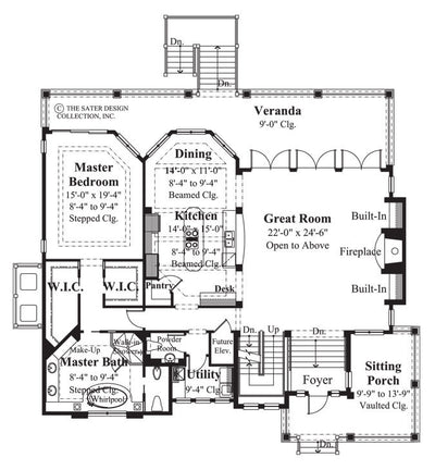 Cascade Ridge- Main Level Floor Plan -Plan #6802