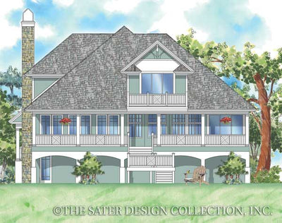 Cascade Ridge-Rear Elevation-Plan #6802