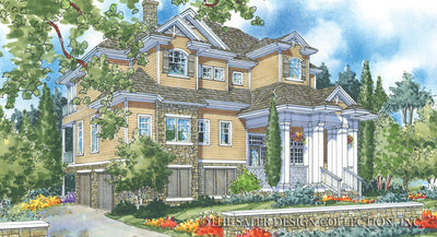 Walden Hill-Front Elevation-Plan #6803
