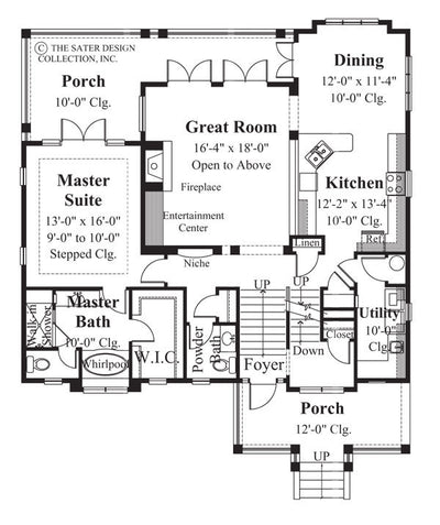Walden Hill-Main Level Floor Plan-Plan #6803