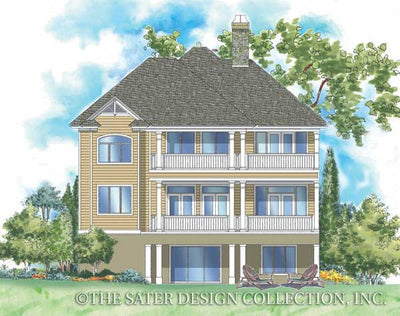 Walden Hill-Rear Elevation-Plan #6803