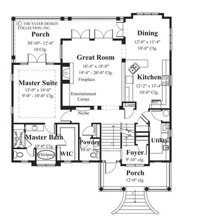 Nicholas Park-Main Level Floor Plan-Plan #6804