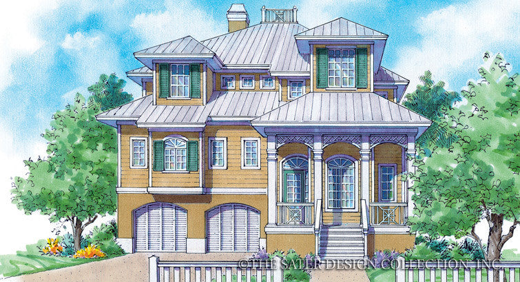 Linden Place-Front Elevation- Plan #6805