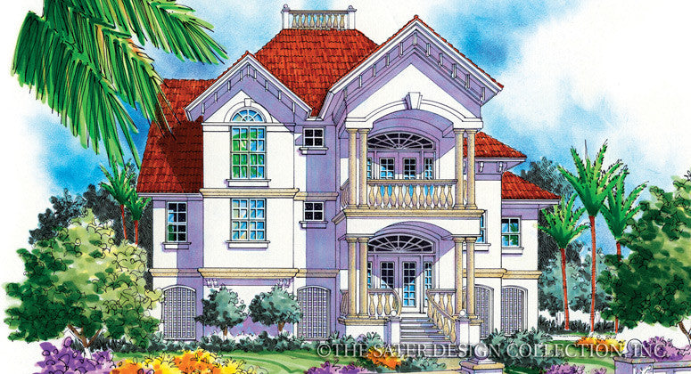 Tierra di Mare-Front Elevation-Plan #6806
