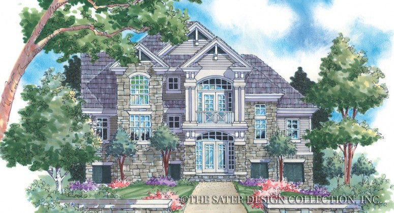 Buckhurst Lodge- Front Elevation -Plan #6807