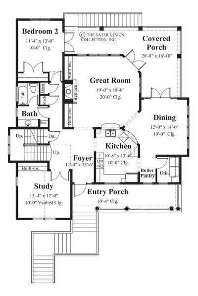 Carmel Bay-Main Level Floor Plan-#6810