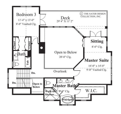 Carmel Bay-Upper Level Floor Plan-plan #6810