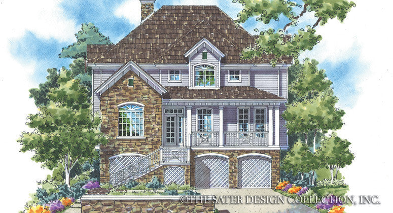 Lake Tahoe-Front Elevation Render Image-Plan #6811