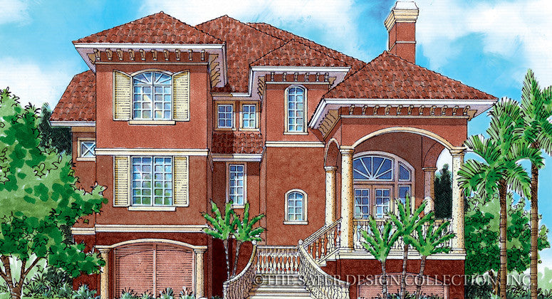 Chelsea Passage-Front Elevation-Plan #6812