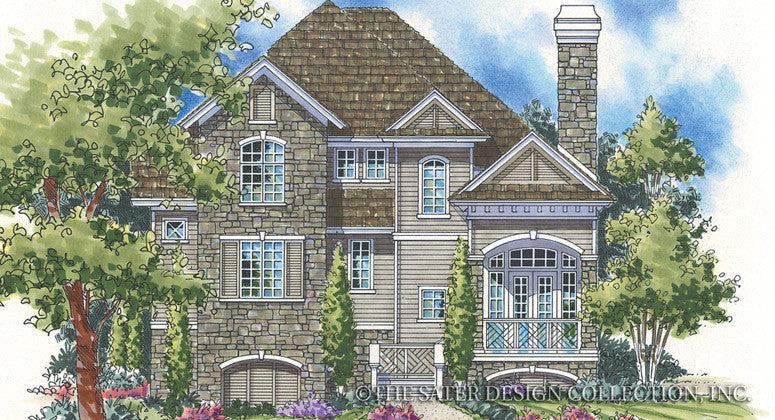 Albert Ridge-Front Elevation-Plan #6814