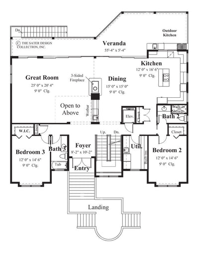 Villa Tuscano-Main Level Floor Plan-#6815