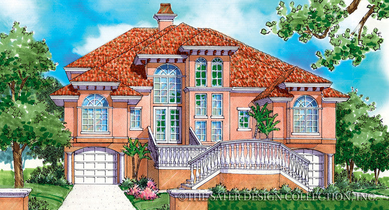 Villa Tuscano-Front Elevation-Plan#6815