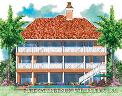 Villa Tuscano-Rear Elevation-Plan #6815