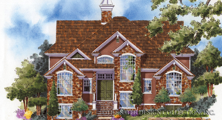 Laurel Ridge-Front Elevation Render Image-Plan #6817