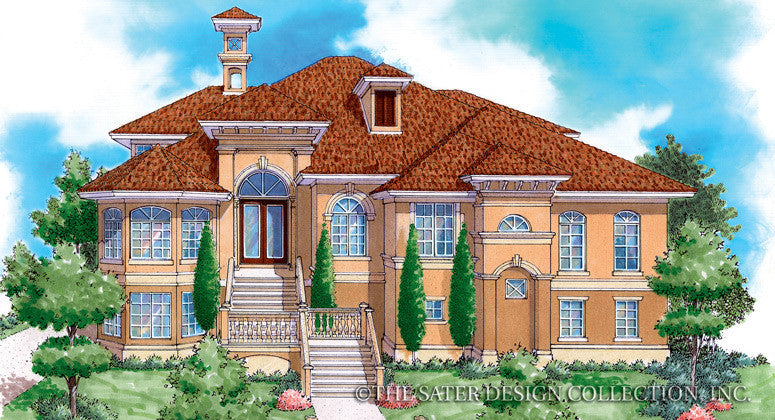 Hyatt Park-Front Elevation-Plan #6818