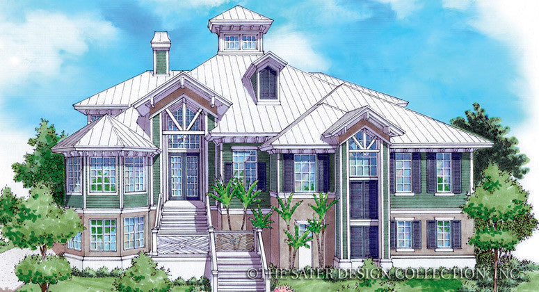 La Palma-Front Elevation-Plan #6819