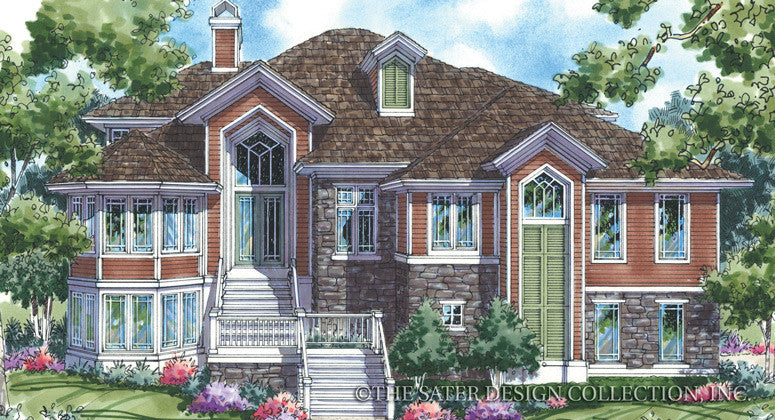 Echo Forest-Front Elevation Image-Plan #6820