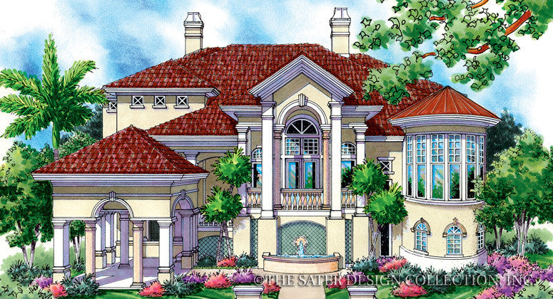 Jupiter Bay-Front Elevation-Plan #6821
