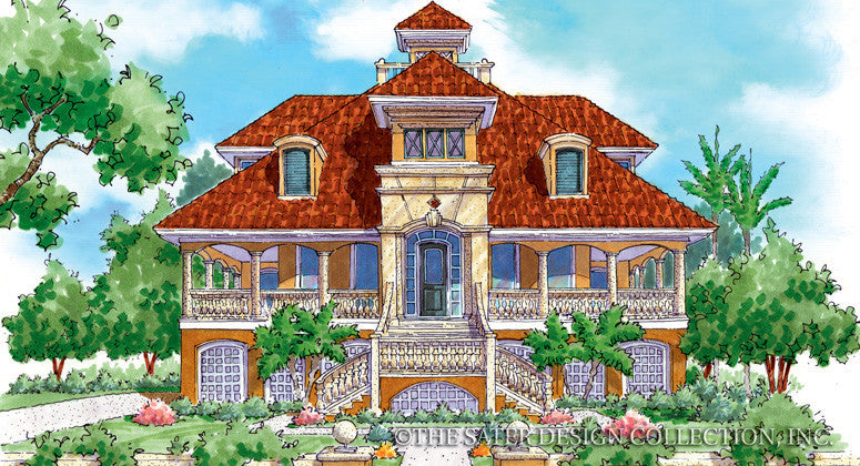 Coconut Grove-Front Elevation-Plan #6824
