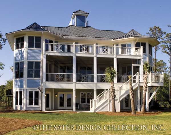 House plan les anges sater design collection for House plans with porch all the way around