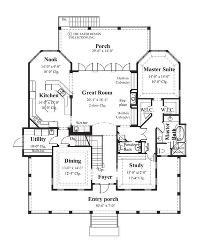 Wolf Summit-Main Level Floor Plan-Plan #6826
