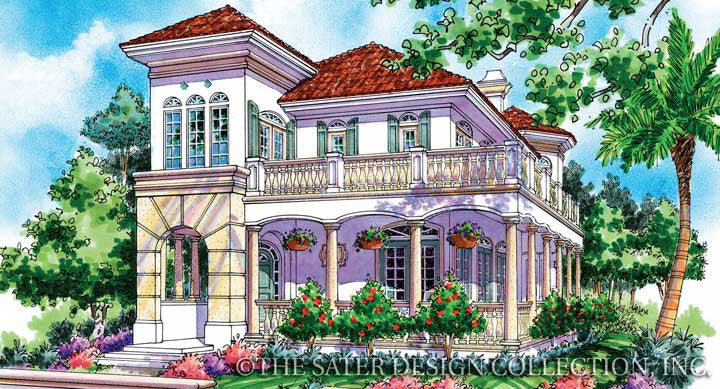 Sommerset-Front Elevation-Plan #6827