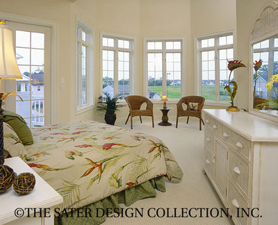 Key Largo Home - Master Bedroom View -Plan #6828