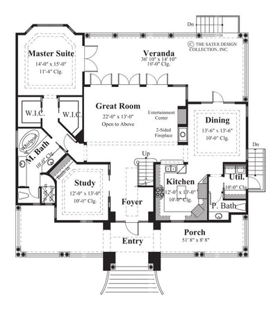 Biscayne Bay - main Level Floor Plan - #6830