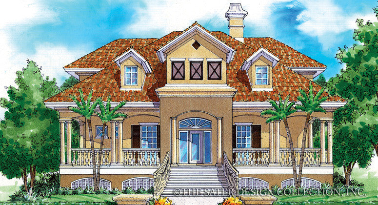 Biscayne Bay-Front Elevation-Plan #6830