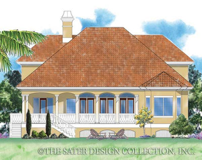 Biscayne Bay-Rear Elevation-Plan #6830