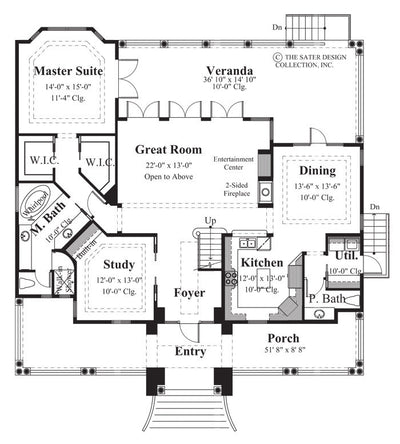 Monterrey Cove-Main Level Floor Plan-#6831