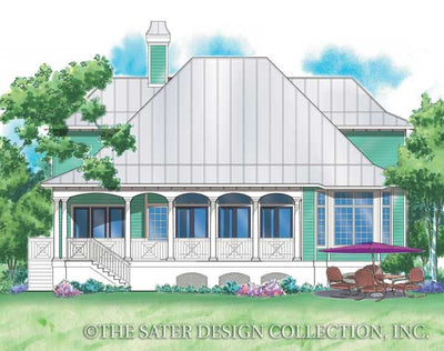 Monterrey Cove-Rear Elevation-Plan #6831