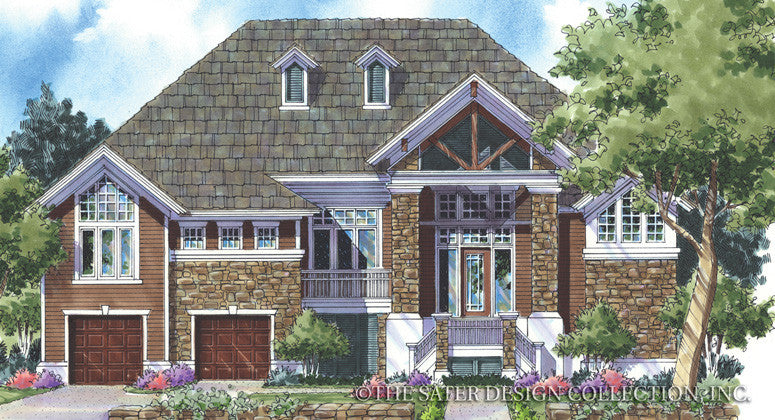 Chanteclair-Front Elevation-Plan #6835