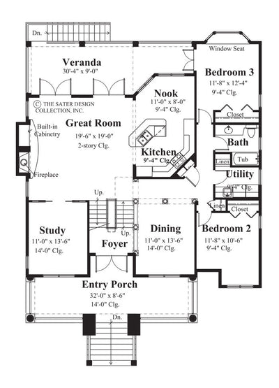 Rue Nouveau-Main Level Floor Plan #6836
