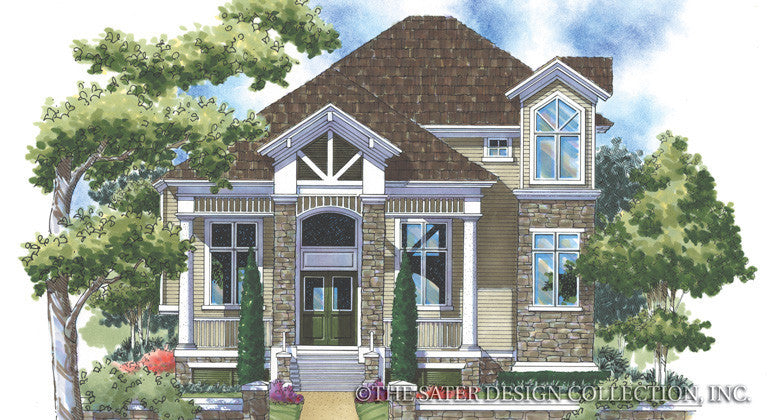 Berkeley Square Home - Front Elevation-Plan #6838