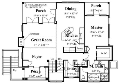 Aruba Bay-Main Level Floor Plan-Plan #6840