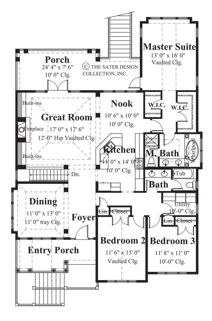 House Plan Newport Cove Sater Design Collection