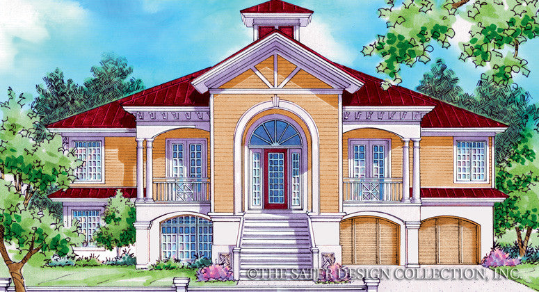 Saint Martin-Front Elevation-Plan #6846