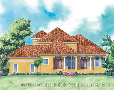 Sunset Beach-Rear Elevation- Plan #6848