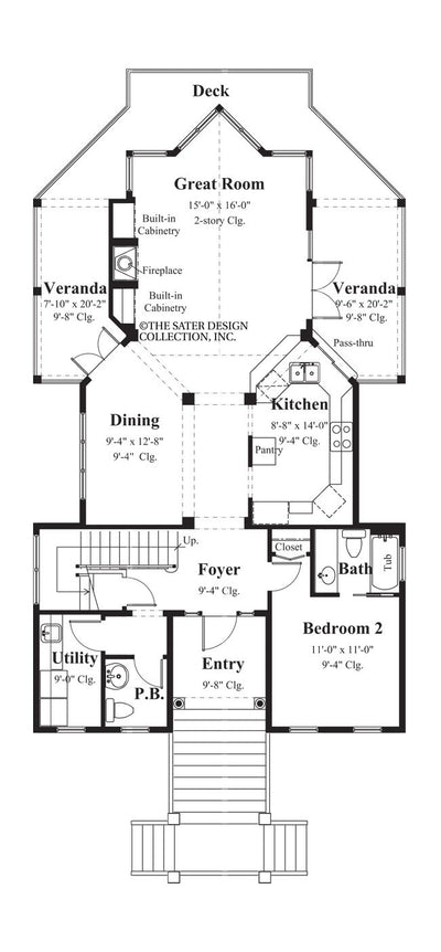 Plymouth Bay-Main Level Floor Plan- #6852