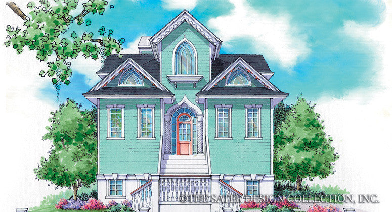 Plymouth Bay-Front Elevation-Plan #6852