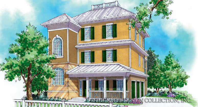 Charleston Hill-Front Elevation-Plan #6855
