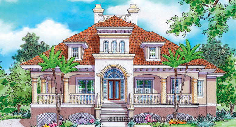 Royal Marco-Front Elevation-Plan #6857