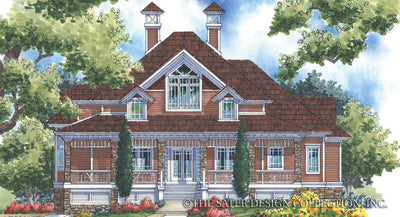 Bradley House-Front Elevation-Plan #6859