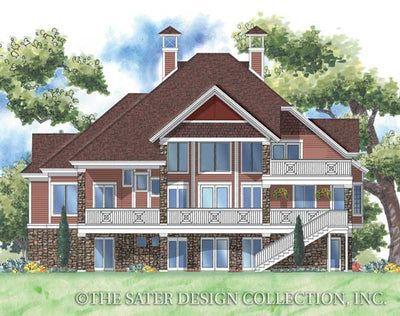 Bradley House-Rear Elevation-Plan #6859