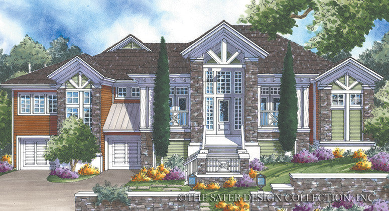 Mount Whitney Home Render Image-Front Elevation-Plan #6862