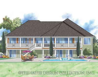 Mount Whitney-Rear Elevation-Plan #6862
