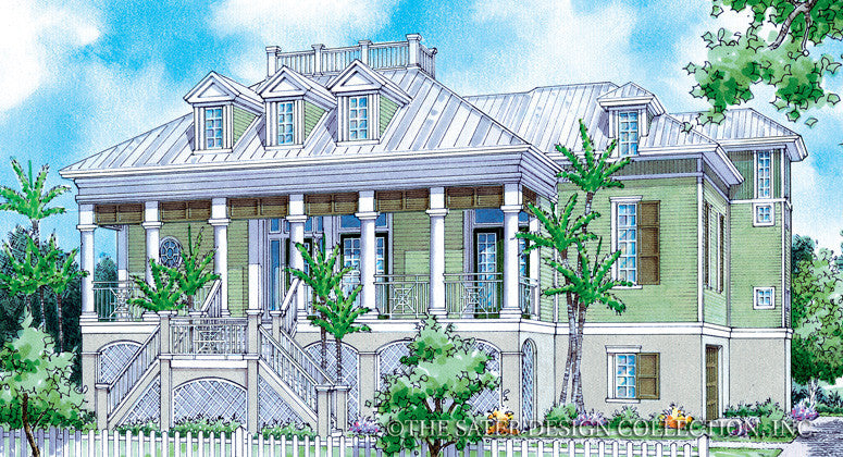 Beach House Plans | Beach Home Plans | Sater Design Collection on raised ranch front porch designs, southern greek revival house plans, coastal bungalow house plans, beaufort style house plans, coastal living house plans, creole cottage plans, raised beach house, southern style house plans,