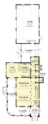 Pembroke House main level floor plan